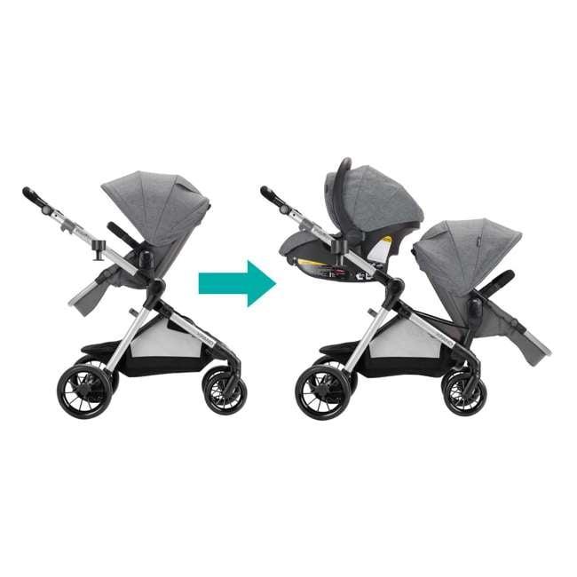 13812254 Evenflo Pivot Xpand Full Size Modular Convertible Baby Stroller, Percheron Gray 4