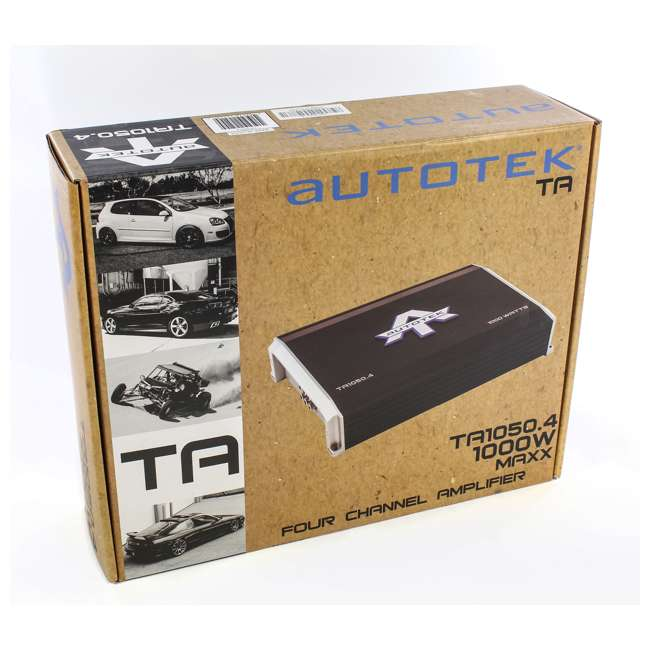 TA1050.4-U-A Autotek 4 Channel 1000 Watt Amp Car Audio Class A/B Power Amplifier (Open Box) 4