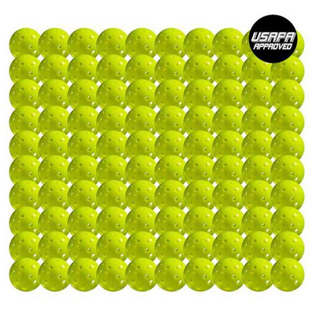 52843x Franklin Sports X-40 Pickleballs 100 Piece Outdoor Gaming Pack, Yellow