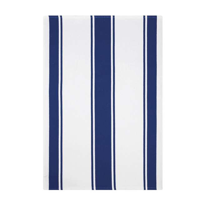 9459-1955 MU Kitchen 9459-1955 Set of 1 Ridged Cotton Dishcloth and 2 Dish Towels, Blue 2