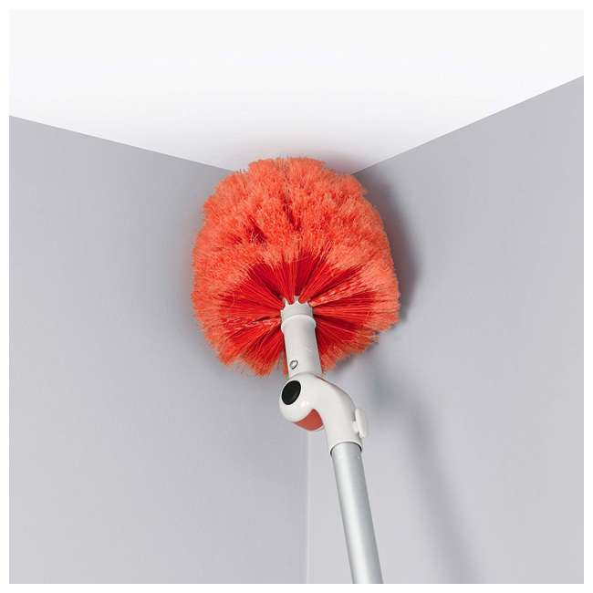 12183600 OXO Good Grips 3-In-1 Extendable Long Reach Microfiber Dusting System, Orange 3