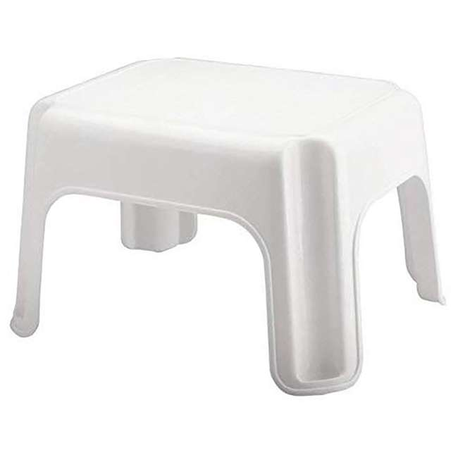 3 x FG420087WHT Rubbermaid Durable Plastic Roughneck Step Stool w/ 300-LB Weight Capacity, White (3 Pack) 1