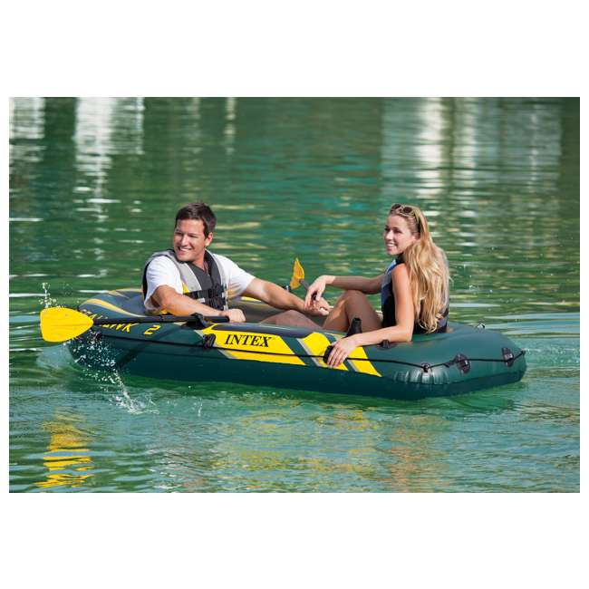 68347EP + 2 x 68631E Intex Seahawk 2 Inflatable Raft & 2 Trolling Motors 5