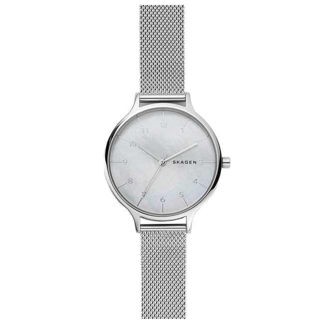 SKW2701 Skagen Anita 36mm Steel-Mesh Mother of Pearl Womens Wrist Watch
