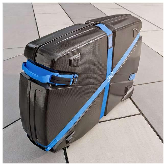 96015 B&W International Hard Impact Resistant Weatherproof Bike Guard Curv Case, Blue 5