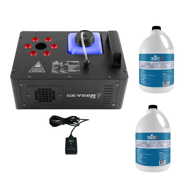 GEYSER-T6 + 2 x FJU Chauvet DJ Geyser T6 Fog Machine and Light Effect with 2 Gallons Fog Fluid