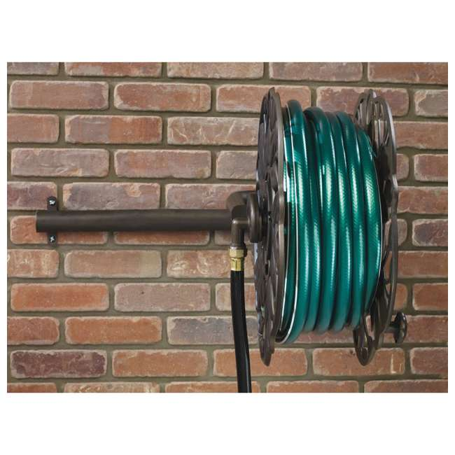 AMES-2397200 Ames Neverleak Decorative Leaf Wall Mount Hose Reel With 100-Foot Hose Capacity 3