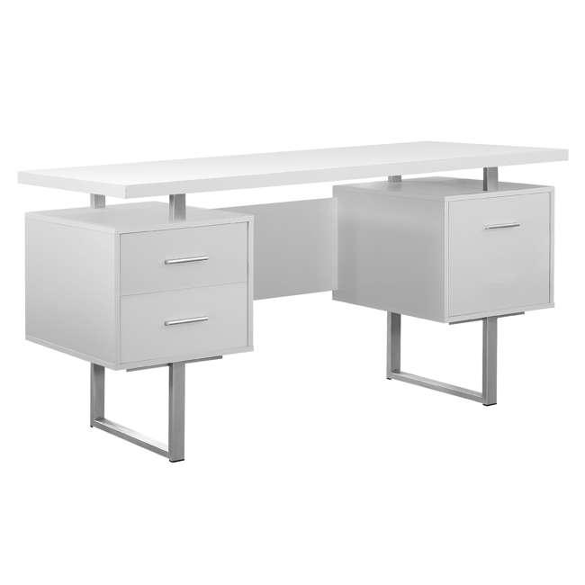VM-7081 + VM-7048 Monarch 60 Inch Office Computer Desk w/ Filing Drawer & 3 Drawer Filing Cabinet 1