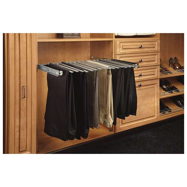 PSC-3014CR Rev-A-Shelf PSC-3014CR 30-inch Chrome Pullout Pants Rack for 16 Pairs of Pants 2