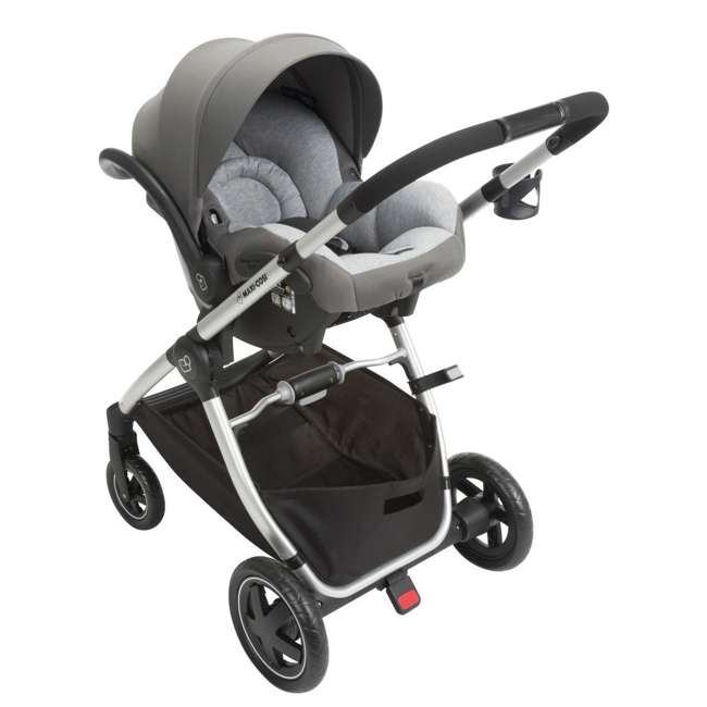 TR362CTF Maxi-Cosi Adorra Stroller and Car Seat Travel System, Loyal Gray 3