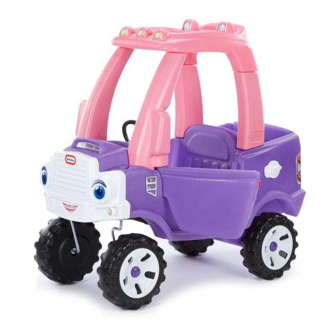 642777M-U-A Little Tikes Pink and Purple Princess Cozy Kids Ride On Truck (Open Box)