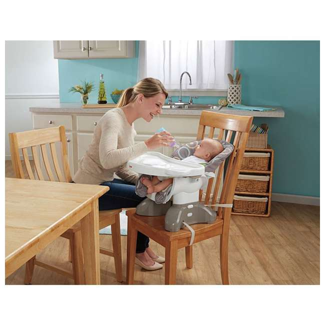 BMM98 Fisher Price SpaceSaver Portable Travel Baby Feeding High Chair Seat, Luminosity 8