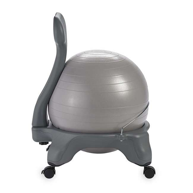 05-62215-U-C Gaiam Classic Gym Yoga Fitness Balance Ball Office Desk Chair, Gray (For Parts) 1