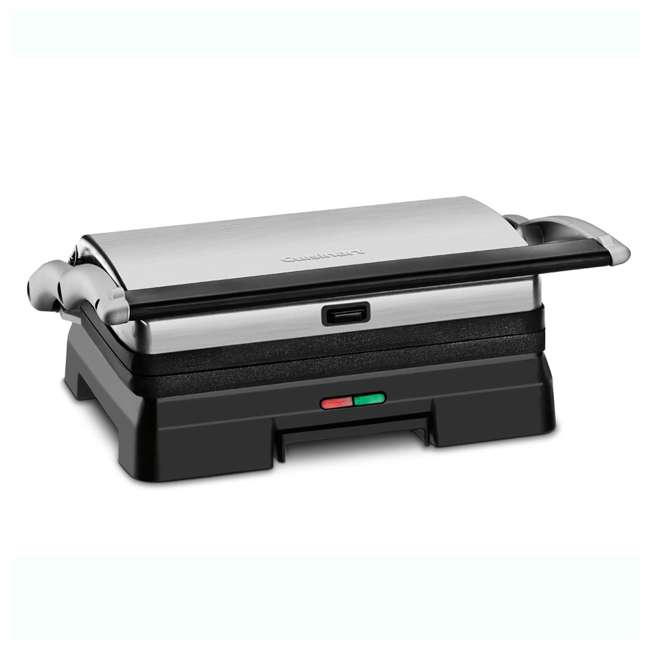 GR-11-RB Cuisinart Stainless Steel Griddler Grill & Panini Press (2 Pack) (Certified Refurbished) 1