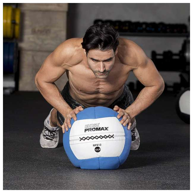 RPX14 Champion Sports Soft Shell Rhino Promax Slam Light Blue Medicine Ball, 14 Pounds 3