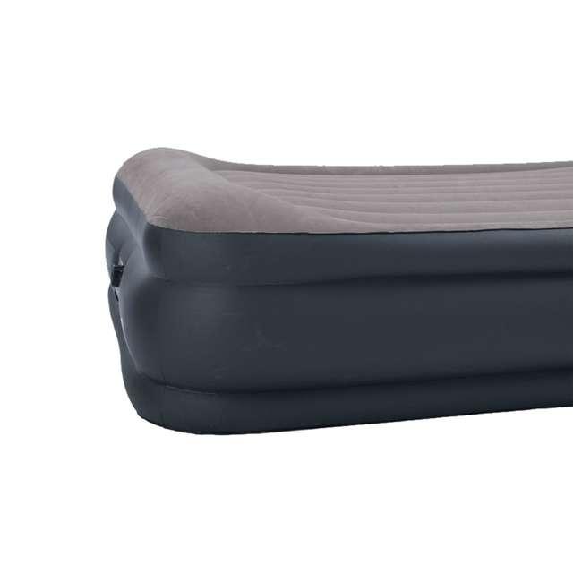 67737E-WMT Intex Deluxe Raised Pillow Rest Air Mattress with Built-In Pump, Queen 4