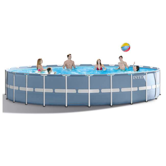 Intex 24 feet x 52 inches prism frame swimming pool set 26761eh for Intex swimming pools clearance