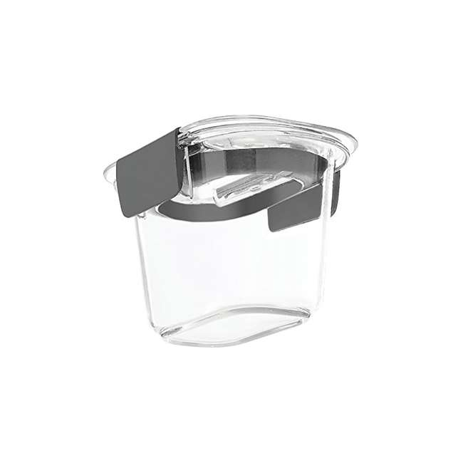 1991154 Rubbermaid Brilliance Food Storage Container, Mini, 0.5 Cup, Clear, 2 Pack  3