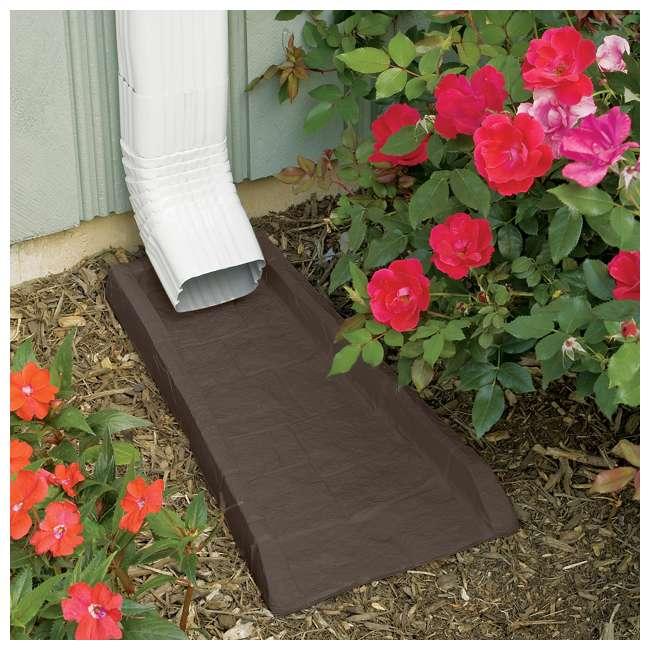 8 x SBR24 Suncast Home Splash Rain Gutter Drain Block Replacement Guard (8 Pack) 2
