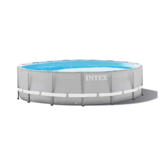 Intex 16 39 x 48 ultra frame swimming pool set w 1200 gph sand filter pump 28323eh for Intex swimming pools clearance