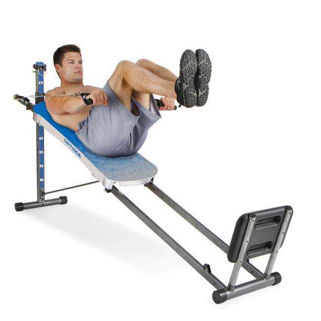 ROPTIMACAT Total Gym Full Body Workout Home Fitness Folding Exercise Row Machine (2 Pack) 4