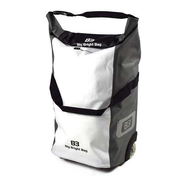 96400/white B&W International B3 Luggage Bicycle Bag w/ Wheels and Telescoping Handle, White