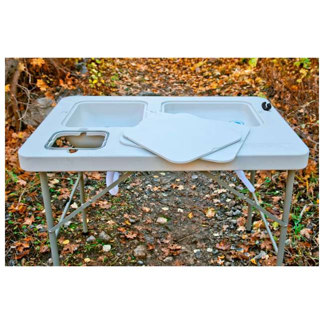 CCC-302 Coldcreek Outfitters Ultimate Portable Outdoor Prep Work Station Table w/ Sinks 3