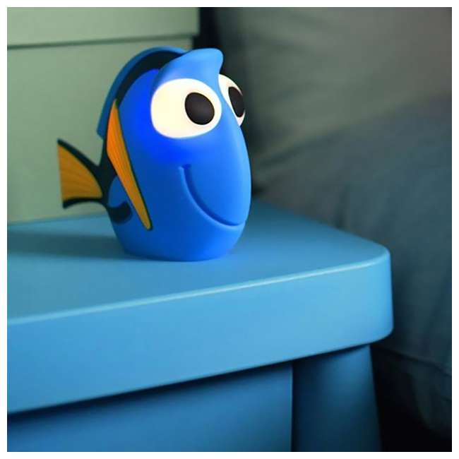 PLC-7176736U0 + PLC-7176890U0 Philips Kids Disney Pixar Finding Dory Flashlight and Soft Pal Nightlight Friend 9