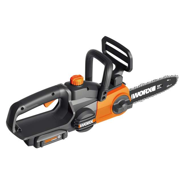 """WG323-U-C Worx 20V 10"""" Auto Tension Electric Pole Chainsaw, Battery & Charger (For Parts) 5"""