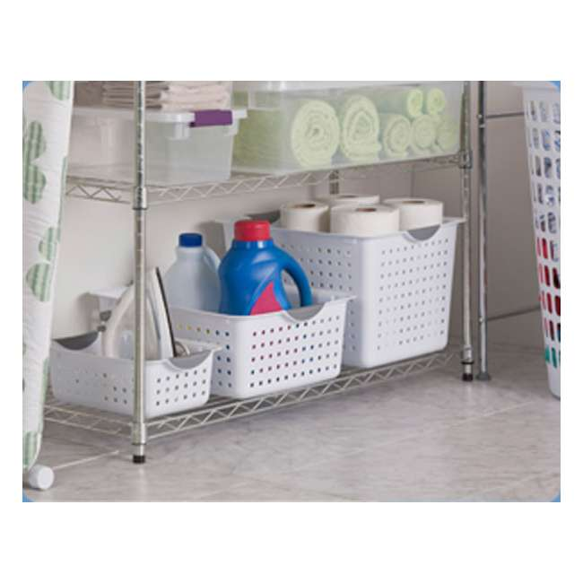 72 x 16228012-U-A New Sterilite 16228012 Small Ultra Plastic Storage Bin Organizer Basket -White (72 Pack) 5