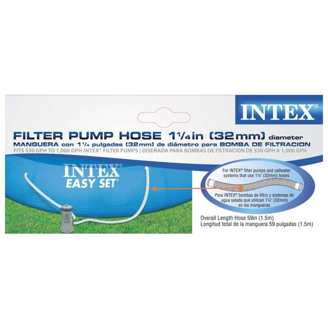 29059E-U-B Intex 1.25 Inch Diameter Accessory Pool Pump Replacement Hose 59 Inch Long(Used) 2