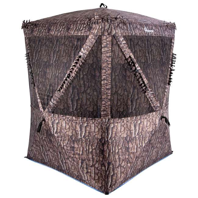 AMEBF3019 Ameristep 2 Person 5.5 Foot Big Country Hub Style Ground Hunting Blind