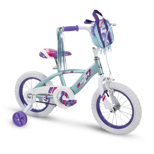 "79478 Huffy Glimmer 14"" Age 4-6 Kids Bike Bicycle with Training Wheels, Sea Crystal"
