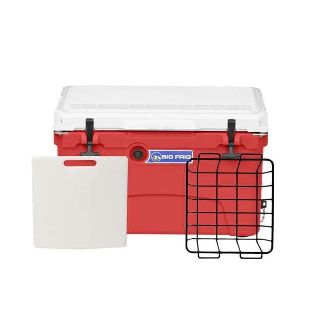 BFDB45-RW Big Frig 45 Quart 64 Can Denali Cooler, Red/White