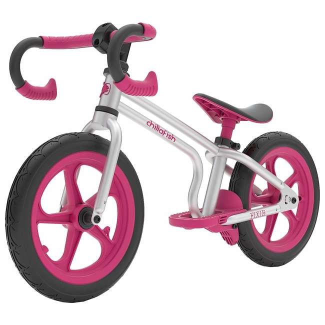 CPFX01PIN Chillafish Fixie Fixed Gear Styled Balance Bike w/ Airless Tires, Pink
