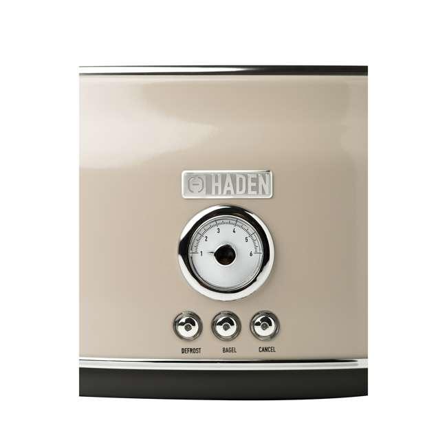 75003-HD Haden 75003 Dorset Wide Slot Stainless Steel Retro 2-Slice Toaster, Putty Beige 6