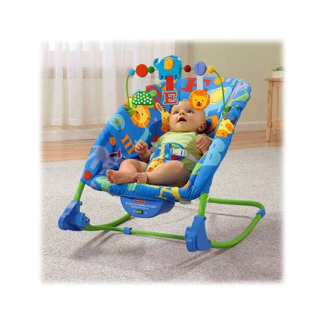 T4257 Fisher-Price Deluxe Animal Alphabet Infant-to-Toddler Rocker 3