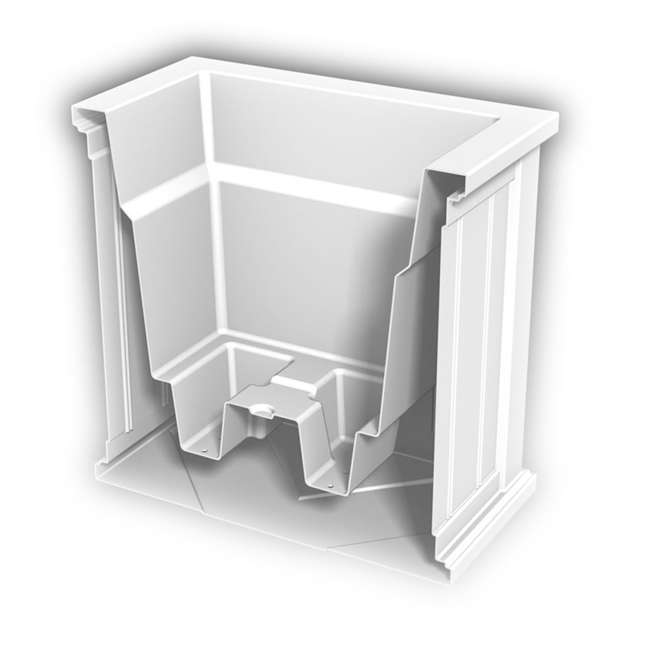 MO-4838-W Mayne Cape Cod Large 20 In Square Plastic Outdoor Flower Pot Planter Box, White 2