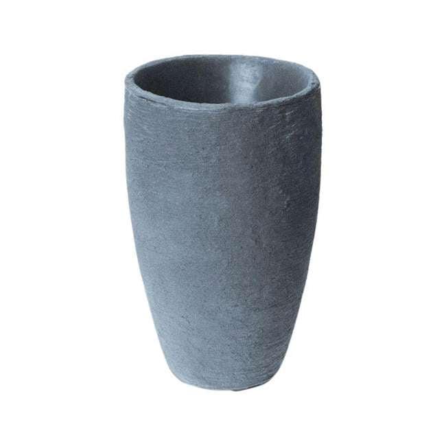 ALG-87301 Algreen Athena 20.5 x 12.6 Inch Self-Watering Pot, Charcoalstone
