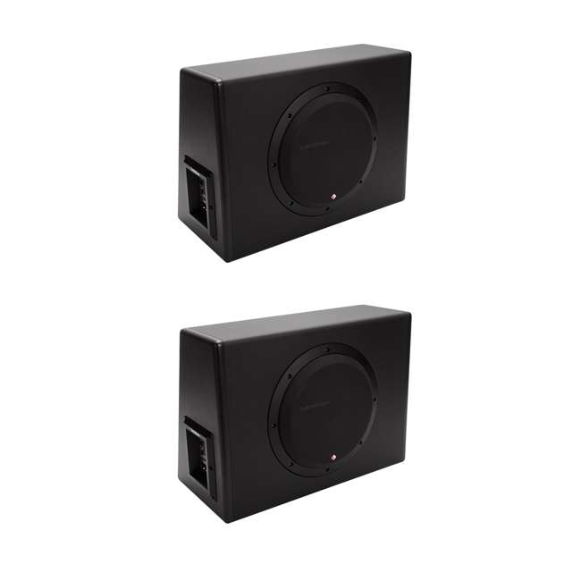 "P300-10 Rockford Fosgate P300-10 10"" 300W Sub Enclosure (2 Pack)"