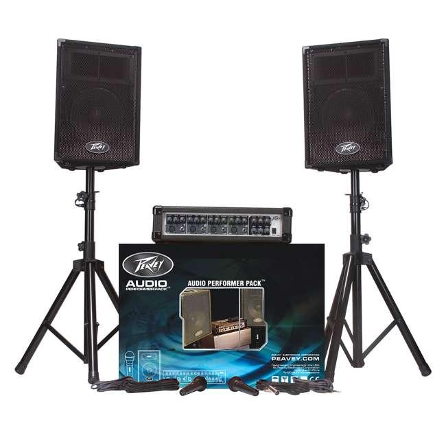 4 x AUDIOPERFORMPACK Peavey Audio Performer Pack PA System (4 Pack) 1