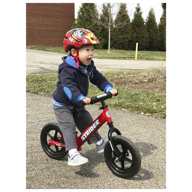 ST-S4RD Strider 12 inch Sport Toddler Training Adjustable Balance Bike, Red (2 Pack) 2