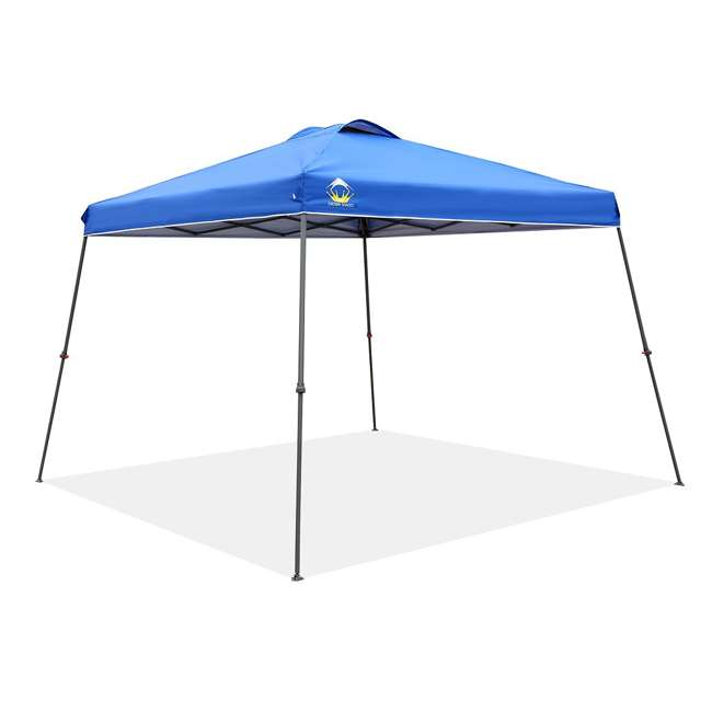 CS-C1109BU Crown Shades 11 x 11 Feet Slant Leg Rust Resistant Sun Protected Canopy, Blue
