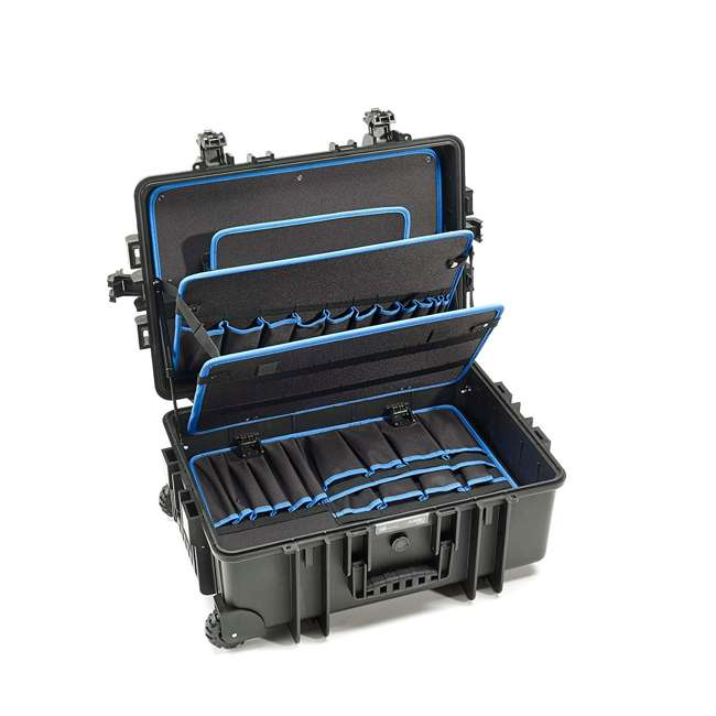117.19/P B&W International Jumbo 6700 Outdoor Tool Case with Pocket Tool Boards, Black