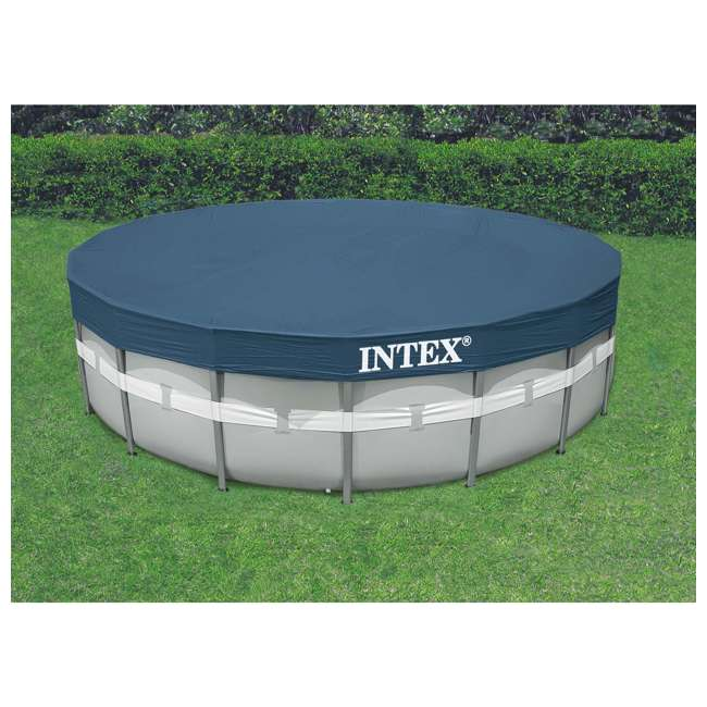 "26303EH + 6 x 29000E Intex 20' x 48"" Ultra Frame Above Ground Pool Set + Filter Cartridge (6) 3"
