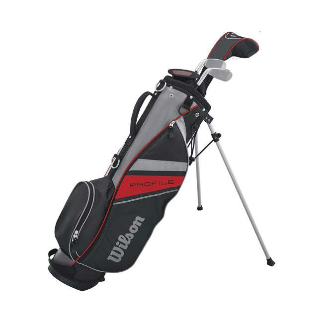 WGGC6132L Wilson 2017 Profile Junior Left Hand Small Golf Set w/ Red Golf Bag (2 Pack) 2