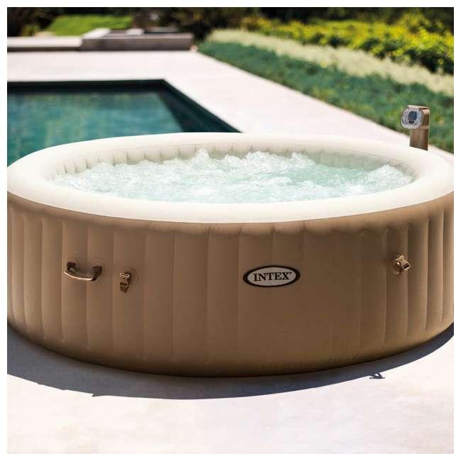 28505E + 28407E + 28500E Intex 28407E Pure Spa 4 Person Inflatable Hot Tub With Headrest And Cup Holder 10