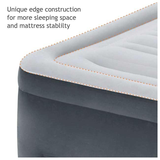 3 x 64417EP Intex High Rise Dura Beam Air Bed Mattress w/ Built-In Pump, Queen (3 Pack) 4