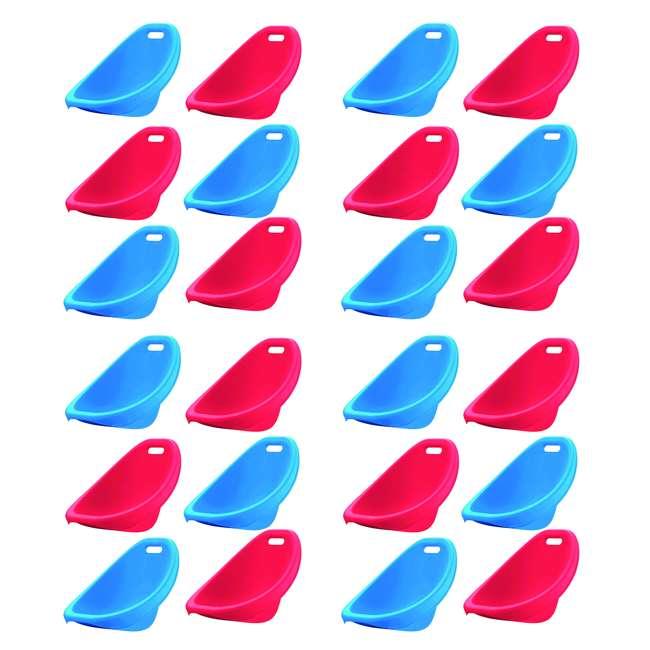 4 x APT-13150-6PK American Plastic Toys APT-13150-6PK Scoop Rocker Chair, Red and Blue (4 Pack)