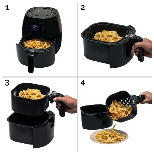 AB-AIRFRYER230B + 36-3501-W Avalon Bay Digital Display Healthy Air Fryer & Restaurant-Style French Fry Cutter 5